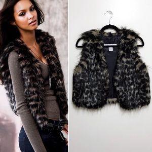 VS Rezrekshn Gray-Tone Faux Fur Vest